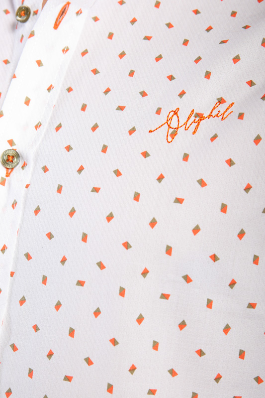 Chemise imprimée Signal orange