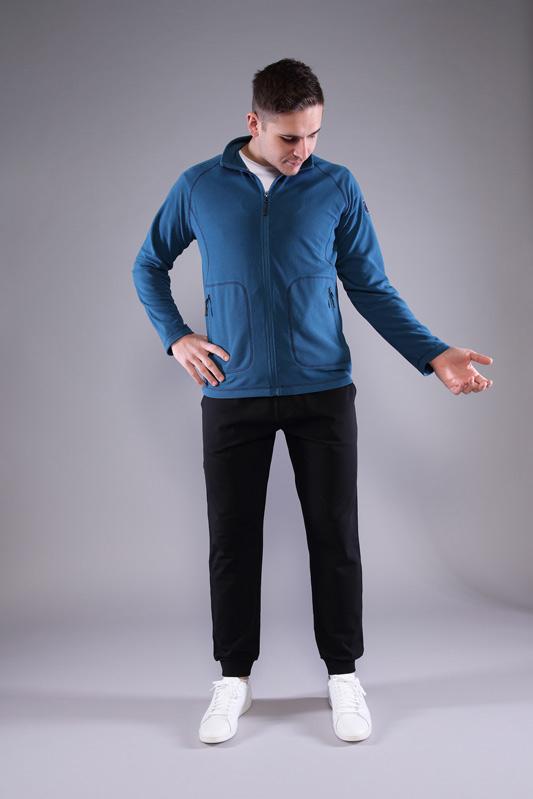 Veste zippée homme Lock bleu