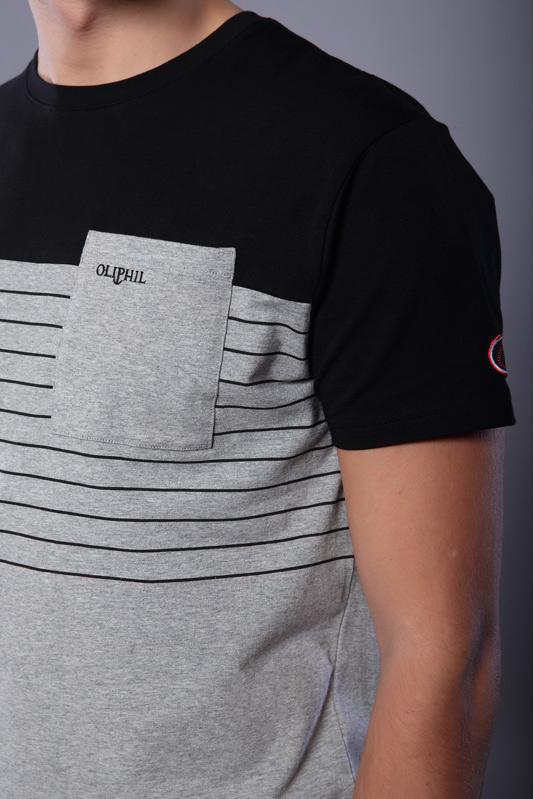 T-shirt rayé manches...