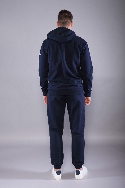 Veste zippée à capuche marine