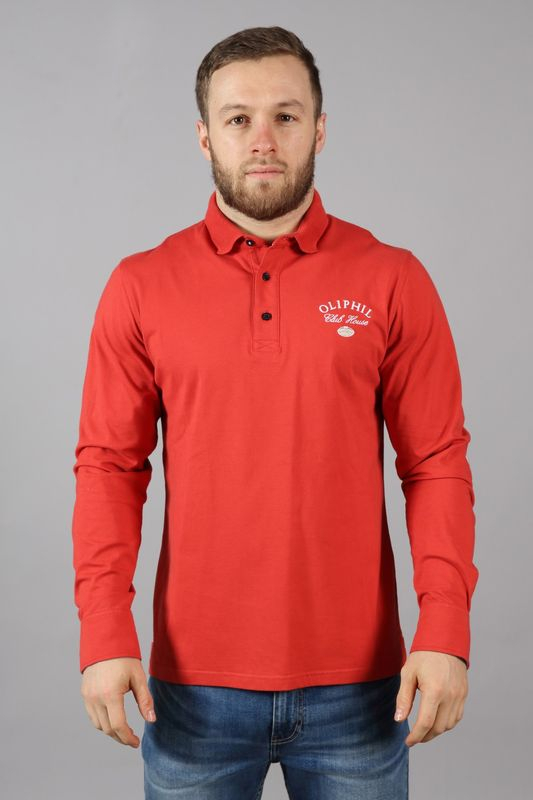 Polo rugby homme rouge