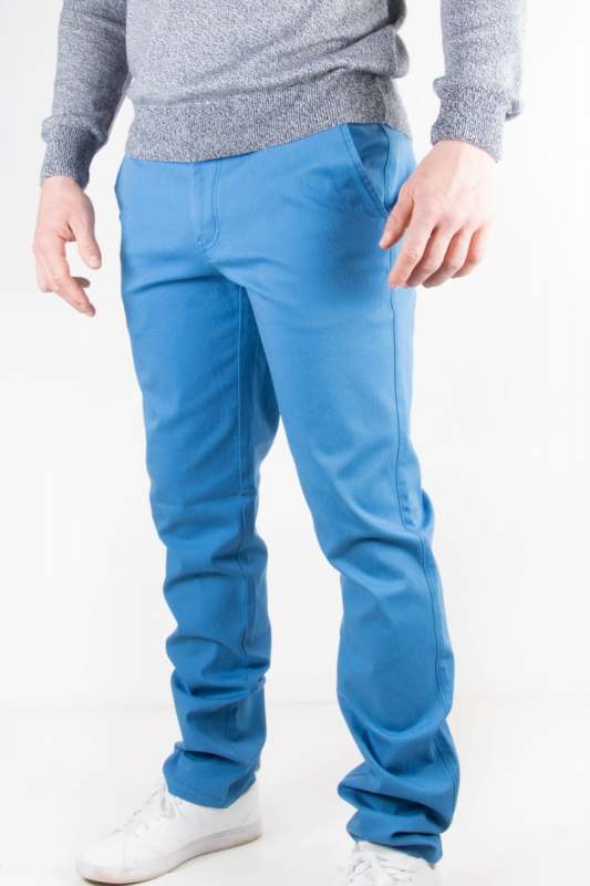 Pantalon homme chino bleu 8S