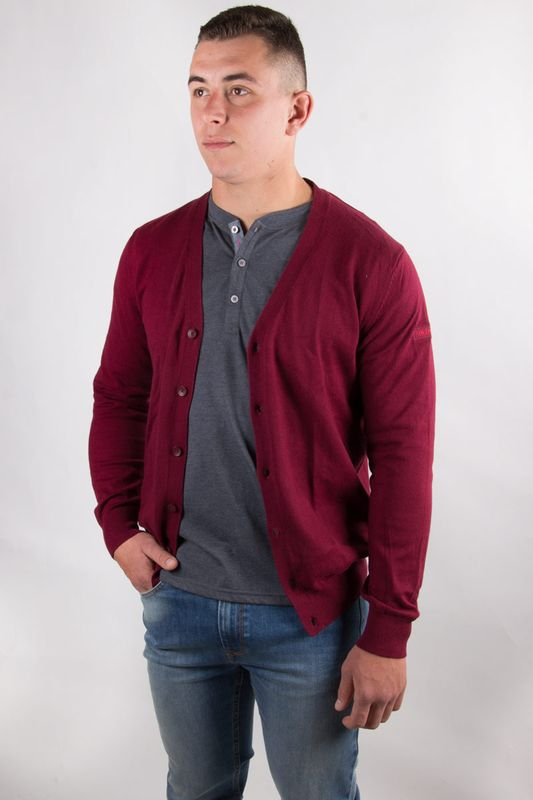 Gilet homme Cardi rouge 6W