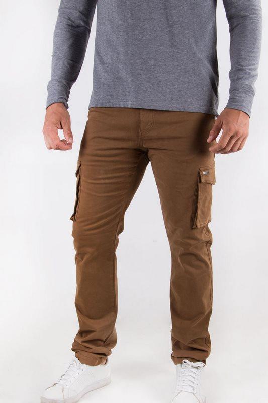 Pantalon homme cargo brun