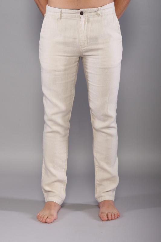 Pantalon en lin Oliphil beige