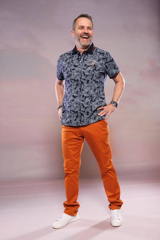Pantalon chino Oliphil marron
