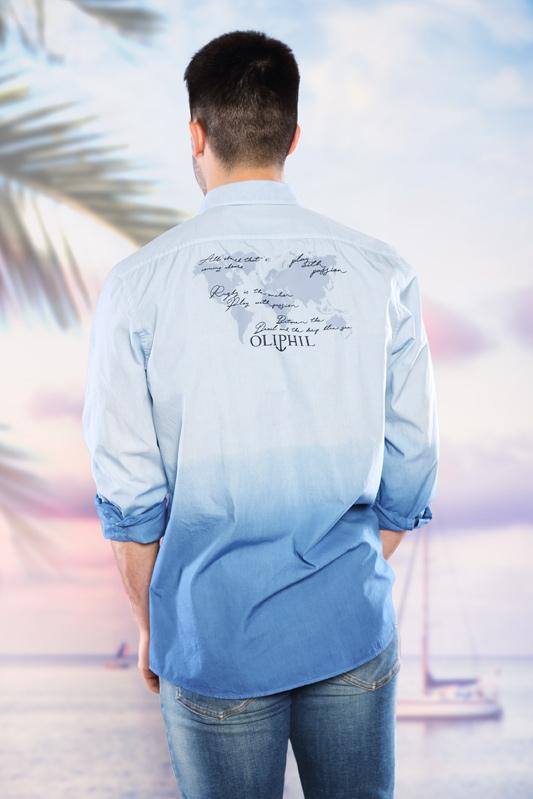 Chemise homme dégradé ciel