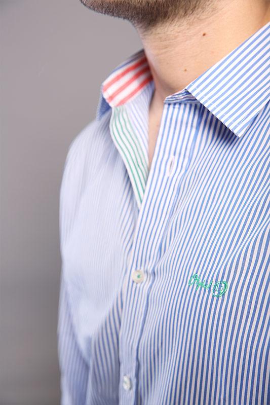 Chemise homme Roma bleu ciel