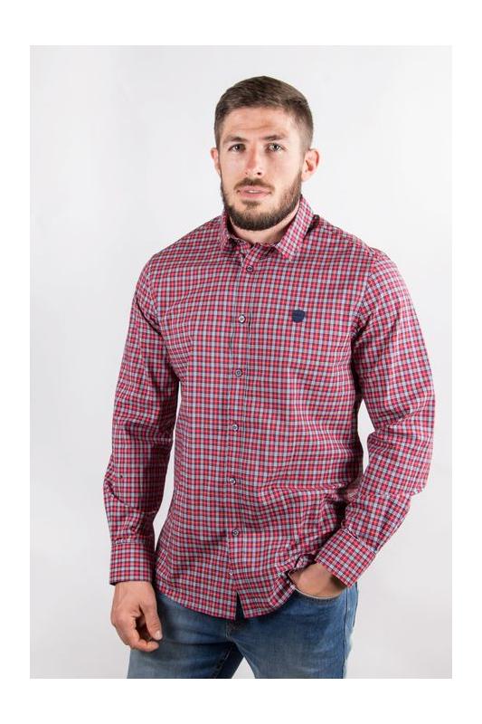 Chemise homme rugby à carreaux