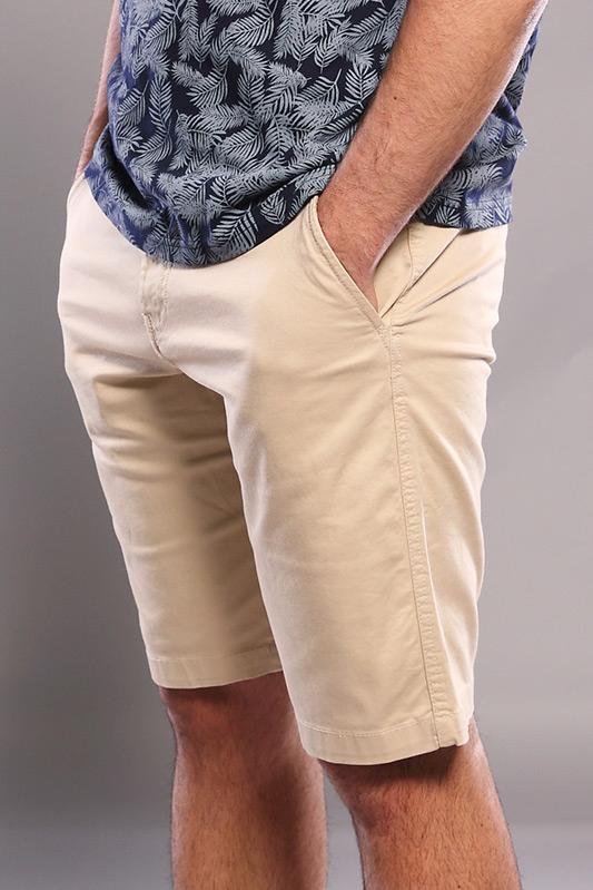 Bermuda homme chino beige