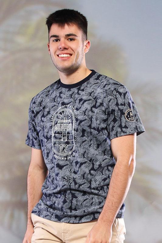 T-shirt imprimé Compet marine