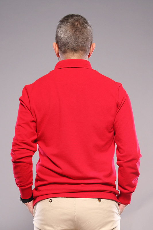 Polo homme manches longues...