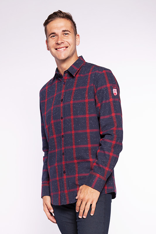 Chemise homme Bee rouge 20W