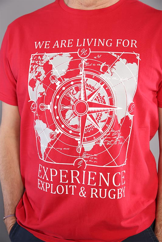 T-shirt Mappy homme rouge