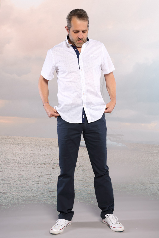 Pantalon chino marine Oliphil