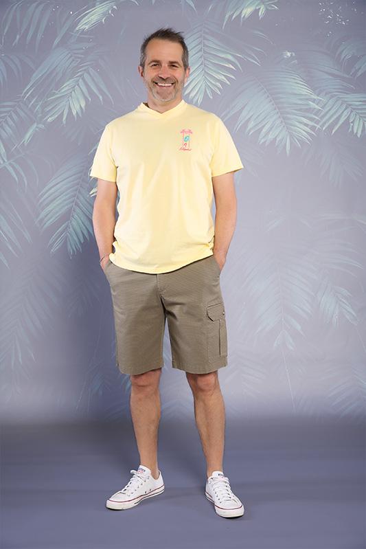 Bermuda homme Printy kaki