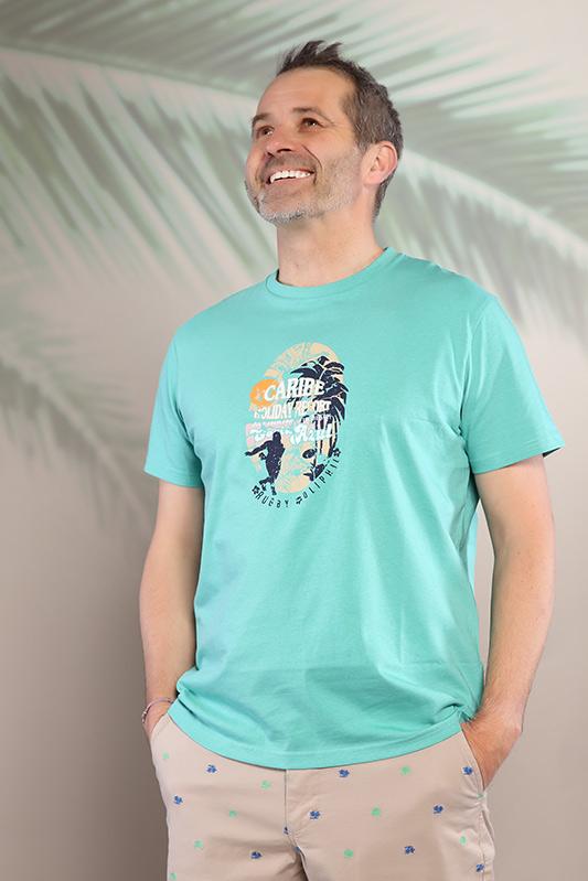 T-shirt homme Caraïbe vert 21S