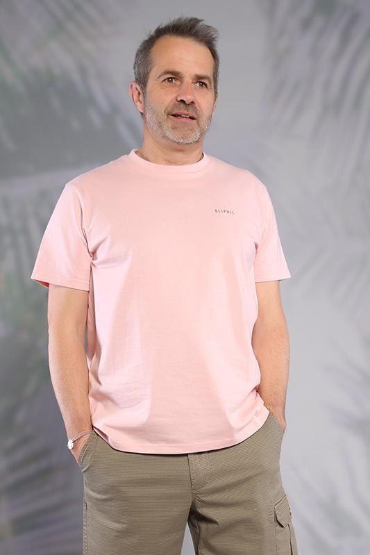 T-shirt homme Oliphil rose