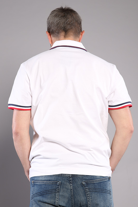 Polo homme rugby blanc