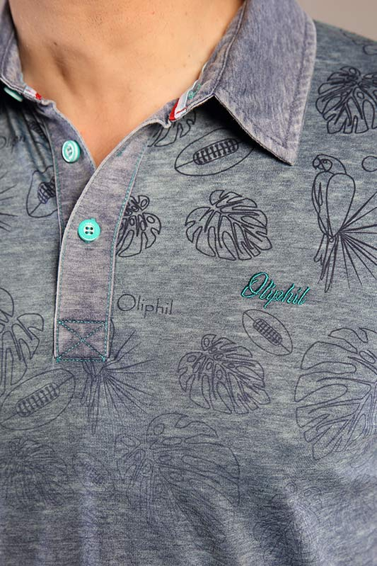 Polo homme Tropical manches...