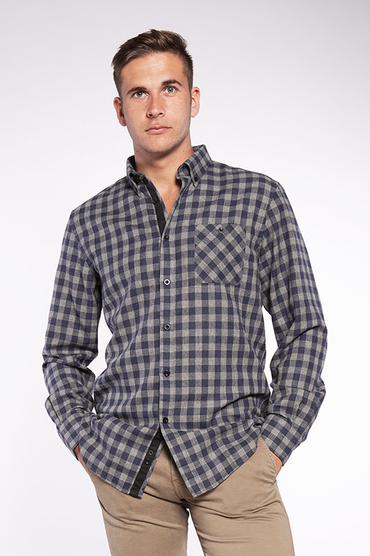 Chemise homme Trendy grise 20W