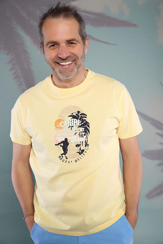 T-shirt homme Caraïbe jaune