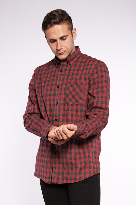 Chemise homme Trendy rouge 20W