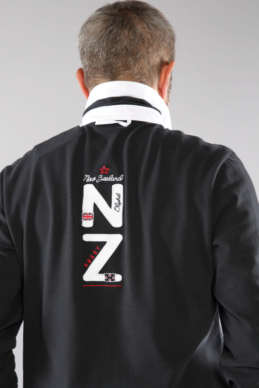 Polo de rugby noir Newzea 21W