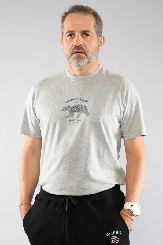 T-shirt gris chiné...