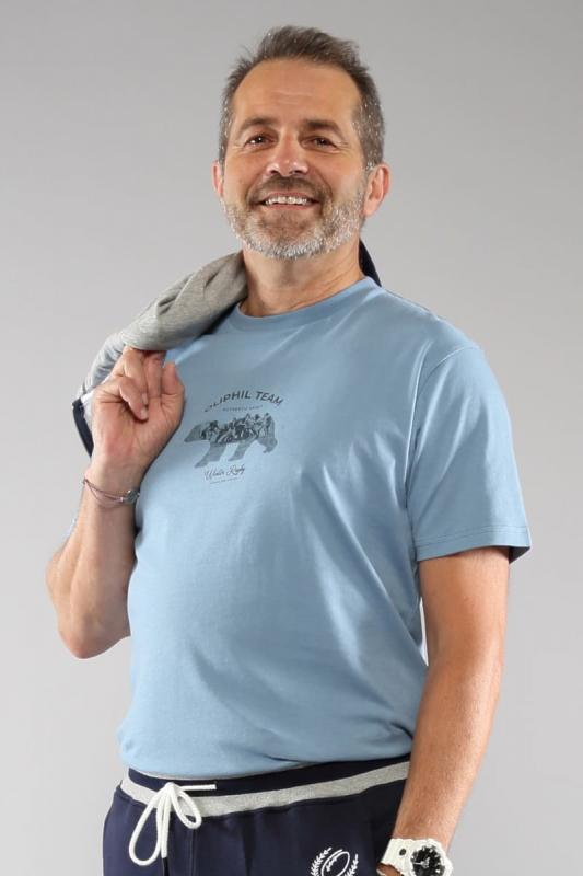 T-shirt bleu Teamspirit 21W
