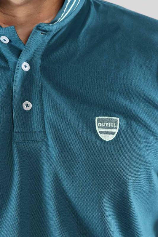 Polo Bleu Vert 21Prime