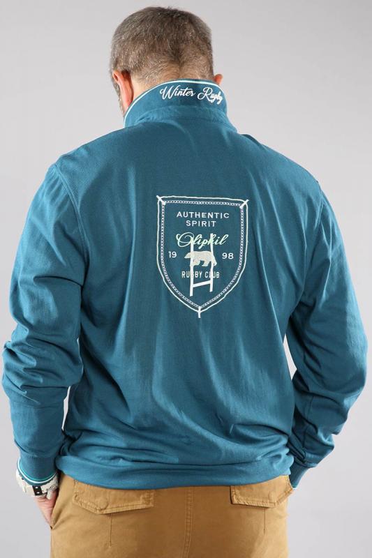 Polo Bleu Vert 21wesky